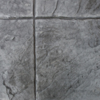 Closeup Photo Of A 16X16 Slate Concrete Stamp.