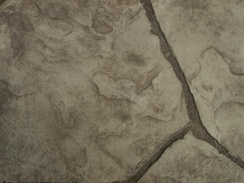 Closeup photo of an Arizona stone concrete stamp.