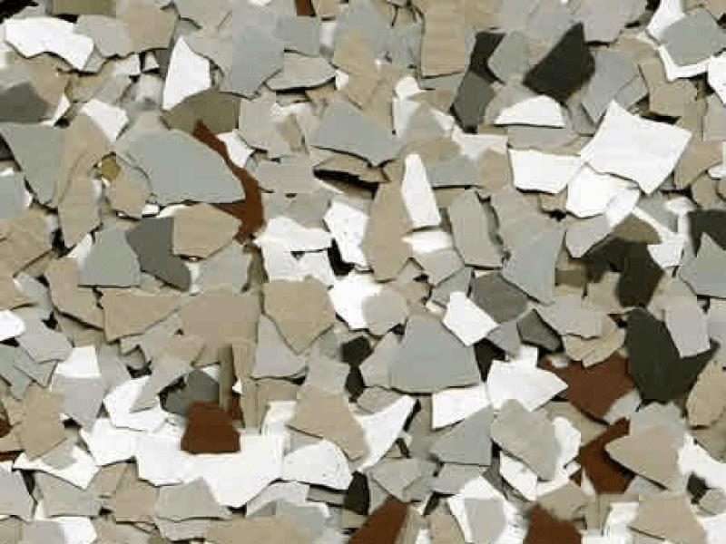 Pebble beach concrete floor texture