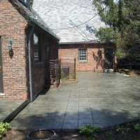 Tile Stamped Concrete Driveway