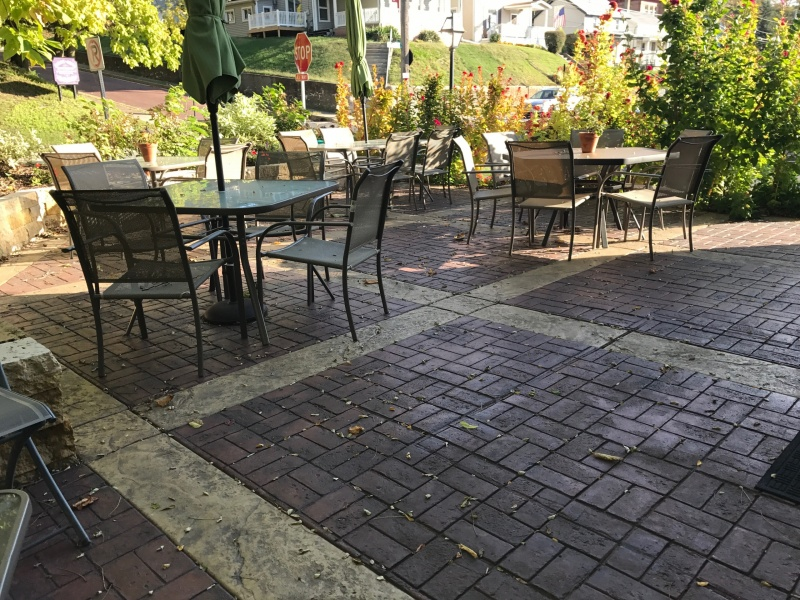 concrete patio at a winery