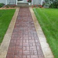 Basketweave Stone Texture Walkway