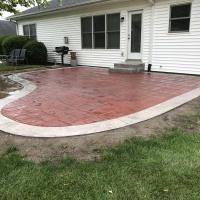 Red Brick Ashlar Cut Patio