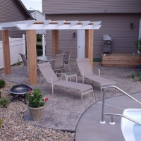 Luccia Stone Stamped Concrete At A Pool Side