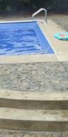 Stone Stamped Concrete Near Pool