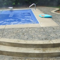 Stone Stamped Concrete Near Pool