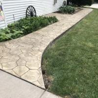 Stone Stamped Sidewalk