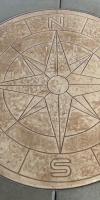 Compass Rose Stamped Concrete Design By Kelly Designs In Concrete