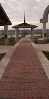 Concrete Walkway In A Park With Decorative Designs Throughout Created By Kelly Designs In Concrete