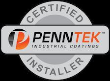 Penntek Industrial Coatings Certified Installer emblem