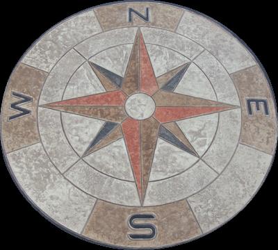 Decorative Concrete - Stamped Concrete - Compass