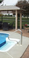 Residential Concrete - Stamped Concrete Pool Deck