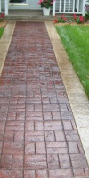 Residential Concrete - Stamped Concrete Walkway